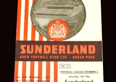 Sunderland v Southampton 04.05.1963