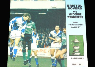Wycombe v Bristol Rovers 14.11.1993 - FA Cup 1st Round