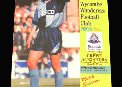 Wycombe v Crewe 20.11.1993