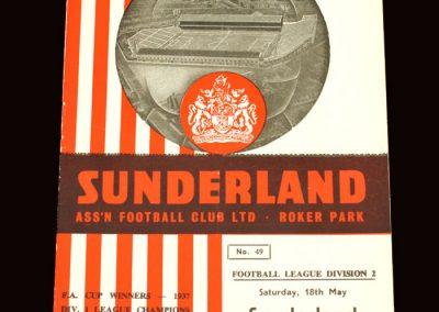 Sunderland v Chelsea 18.05.1963