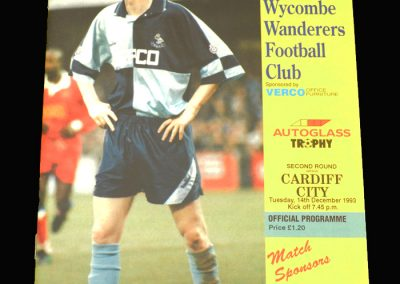 Wycombe v Cardiff 14.12.1993 - FA Trophy South Round 2