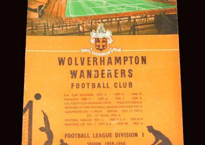 Wolves v Nottingham Forest 18.08.1959 - Charity Shield
