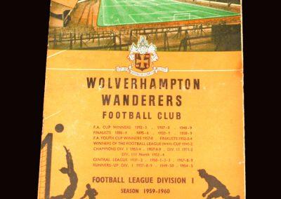 Wolves v Sheff Wed 26.08.1959