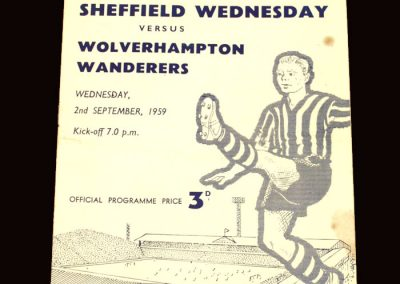 Wolves v Sheff Wed 02.09.1959