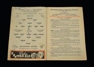 Wolves v Blackburn 12.09.1959