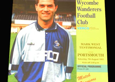 Wycombe v Portsmouth 07.08.1993 - Mark West Testimonial