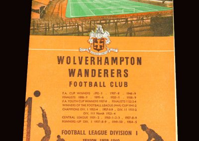 Wolves v Newcastle 31.10.1959
