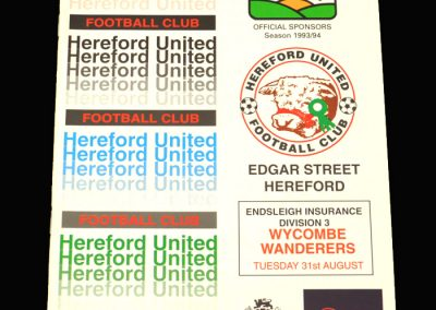 Wycombe v Hereford 31.08.1993