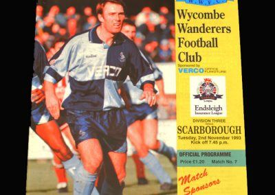 Wycombe v Scarborough 02.11.1993