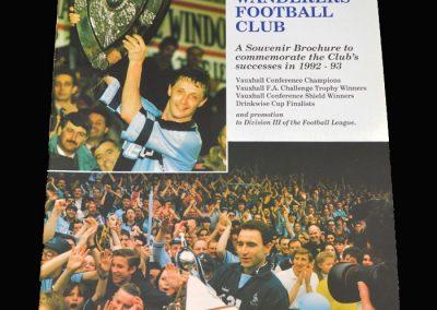 Wycombe Souvenir Brochure 1992-93 Season