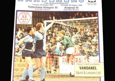 Wycombe v Spurs 11 04.08.1992 (Friendly) | Wycombe v Arsenal 11 06.08.1992 (Friendly)