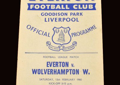 Wolves v Everton 13.02.1960