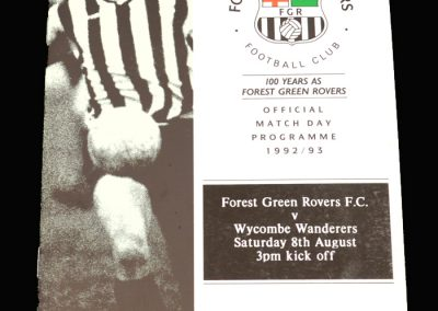 Wycombe v Forest Green 08.08.1992 (Friendly)