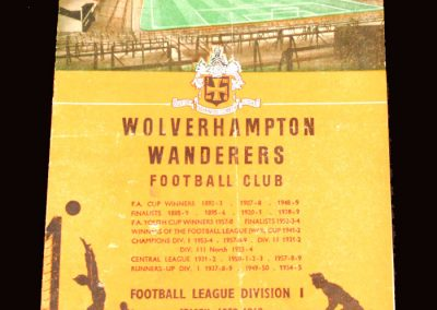 Wolves v Luton 23.02.1960