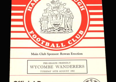 Wycombe v Harrow 18.08.1992 (Friendly)