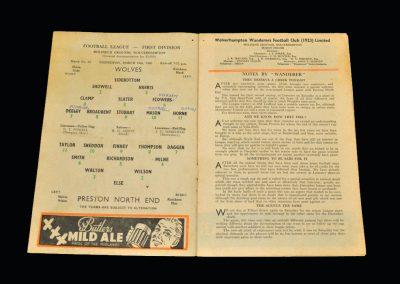 Wolves v Preston 16.03.1960