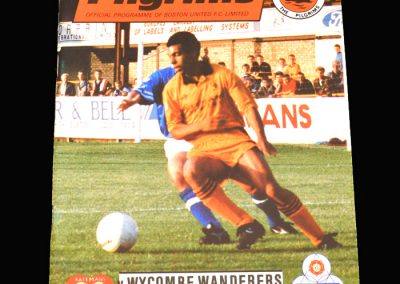 Wycombe v Boston 09.09.1992