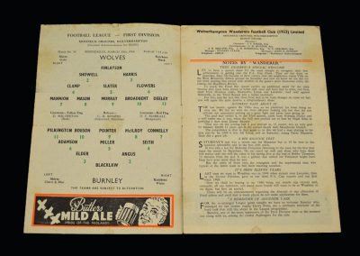 Wolves v Burnley 30.03.1960