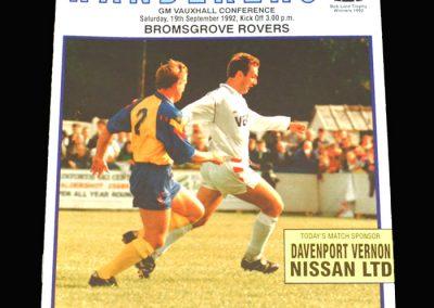 Wycombe v Bromsgrove 19.09.1992