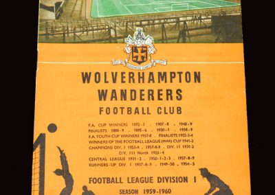 Wolves v West Ham 11.04.1960