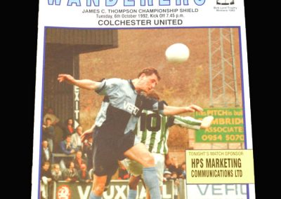 Wycombe v Colchester 06.10.1992 - James C Thompson Shield