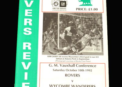Wycombe v Bromsgrove 10.10.1992