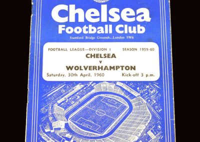 Wolves v Chelsea 30.04.1960