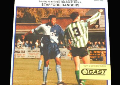 Wycombe v Stafford Rangers 07.11.1992