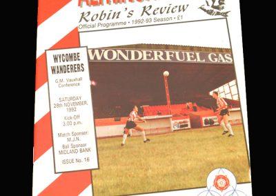 Wycombe v Altringham 28.11.1992