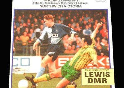 Wycombe v Northwich Victoria 16.01.1993