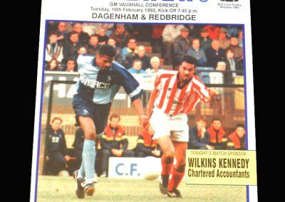 Wycombe v Dagenham & Redbridge 16.02.1993