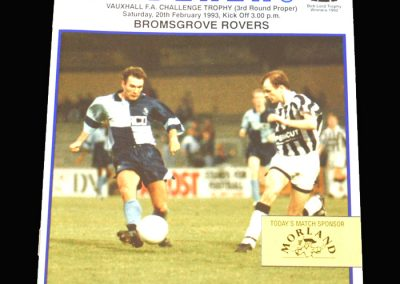 Wycombe v Bromsgrove 20.02.1993 - FA Trophy 3rd Round