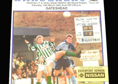 Wycombe v Gateshead 13.03.1993 - FA Trophy 4th Round