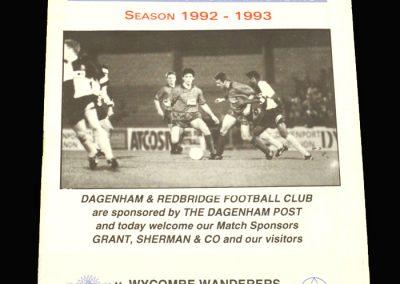 Wycombe v Dagenham & Redbridge 25.03.1993
