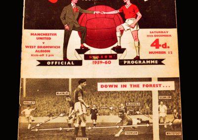 Man Utd v West Brom 19.12.1959