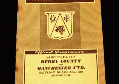Man Utd v Derby 09.01.1960 - FA Cup 3rd Round