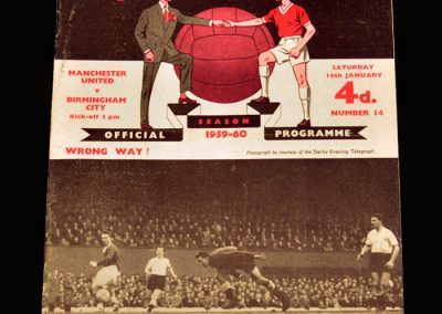 Man Utd v Birmingham 16.01.1960