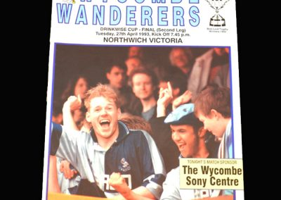 Wycombe v Northwich Victoria 27.04.1993 James C Thompson Shield Final 2nd Leg