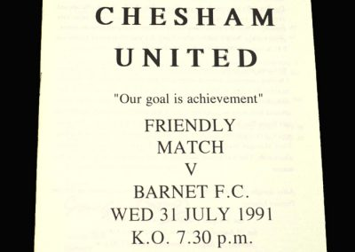 Barnet v Chesham 31.07.1991 (Friendly)