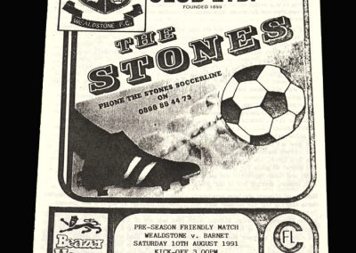 Boston v Wealdstone 10.08.1991 (Friendly)