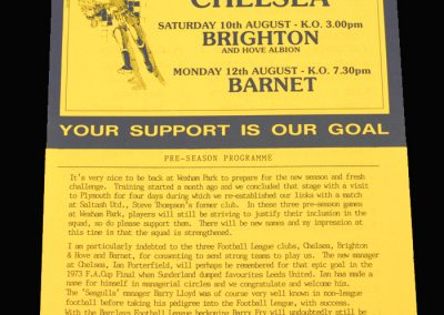 Barnet v Slough 12.08.1991 (Friendly) (also Chelsea & Brighton)