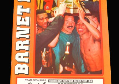 Barnet v Brentford 20.08.1991 - FA League Cup 1st Round 1st Leg