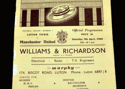 Man Utd v Luton 09.04.1960
