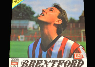 Barnet v Brentford 27.08.1991 - FA League Cup 1st Round 2nd Leg