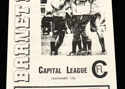 Barnet Reserves v Wycombe Reserves 02.09.1991 (Capital League)