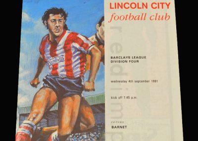 Barnet v Lincoln City 04.09.1991