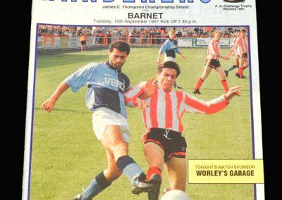 Barnet v Wycombe 10.09.1991 (JCT Shield)