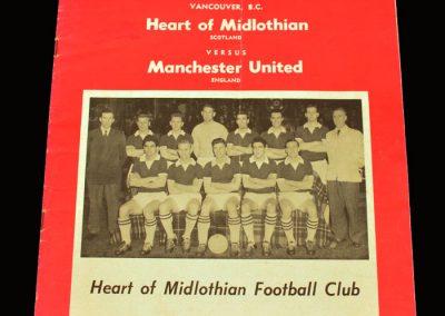 Man Utd v Hearts 28.05.1960