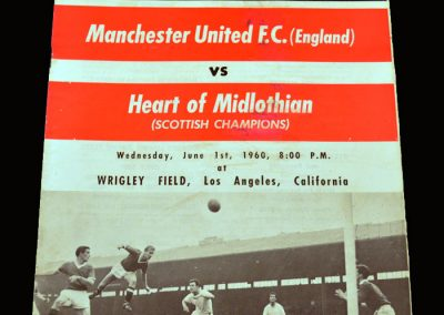 Man Utd v Hearts 01.06.1960