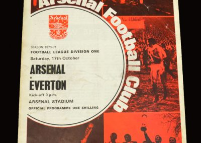 Arsenal v Everton 17.10.1970